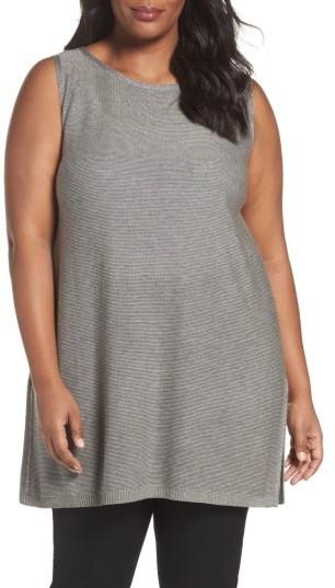 Eileen Fisher Plus Size Tencel Wool Sleeveless Tunic