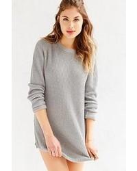Unif X Uo Waffle Knit Tunic Sweater