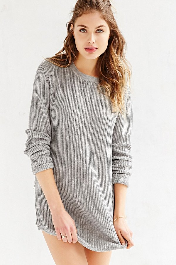 Unif X Uo Waffle Knit Tunic Sweater | Where to buy & how to wear