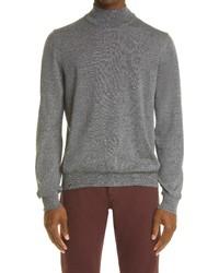 Canali Mock Neck Wool Sweater
