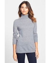 Nordstrom Collection Long Cashmere Turtleneck Sweater
