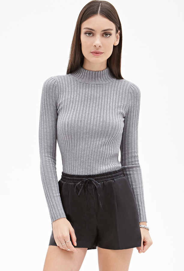 Forever 21 Ribbed High Neck Sweater | Where to buy & how to wear