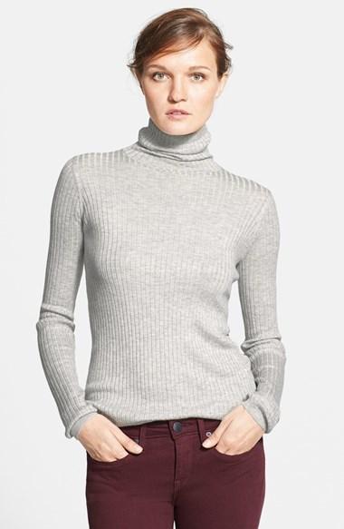 b21576085a57f1 Vince Ribbed Turtleneck Sweater, $245 | Nordstrom | Lookastic.com