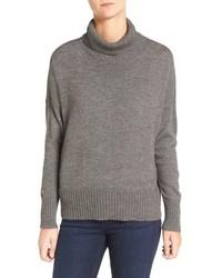 Eileen Fisher Wool Blend Jersey Turtleneck Sweater