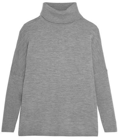 011e3d3a4 Allude Wool Turtleneck Sweater Dark Gray