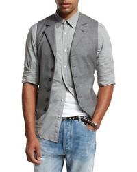 Brunello Cucinelli 6 Button Wool Waistcoat