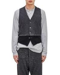 Barena Venezia Colorblocked Vest Grey