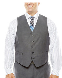 Collection Collection By Michl Strahan Gray Weave Suit Vest Big Tall