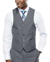 Collection Collection By Michl Strahan Gray Weave Suit Vest Classic Fit