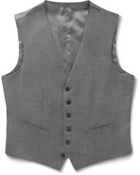 Gieves Hawkes Grey Sharkskin Wool Waistcoat