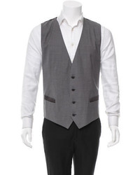 Dolce & Gabbana Jacquard Wool Vest