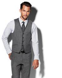 Vince Camuto Notch Grey Vest