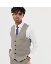 Heart & Dagger Slim Waistcoat In Wool