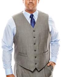 Stafford Stafford Travel Sharkskin Suit Vest Big Tall