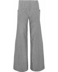 Topshop Unique Wool Blend Tweed Wide Leg Pants Gray