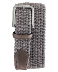 Grey Woven Canvas Belt
