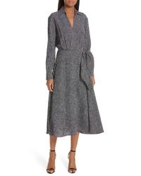 Equipment Vivienne Faux Wrap Midi Dress