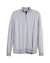 Vince Birds Eye Quarter Zip Wool Cashmere Sweater