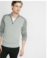 Express Color Block Half Zip Mock Neck Sweater