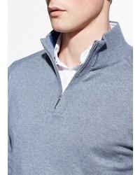 Mango Elbow Patch Wool Blend Sweater