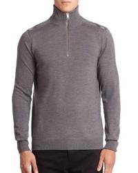 Burberry Farnborough Merino Wool Half Zip Sweater