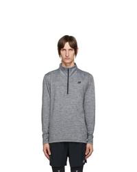 New Balance Grey Fortitech Quarter Zip Shirt