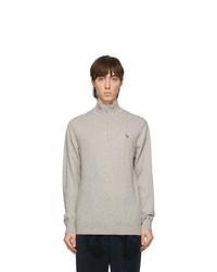 Ps By Paul Smith Grey Zebra Zip Up Sweater