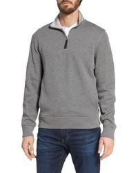 Lacoste Quarter Zip Cotton Interlock Sweatshirt