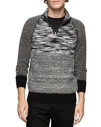 Calvin Klein Jeans Quarter Zip Marled Sweater