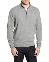 Nordstrom Men's Shop Regular Fit Cashmere Quarter Zip Pullover