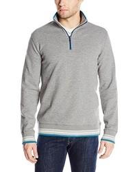 Robert Graham Pipeline Long Sleeve 14 Zip Sweatshirt