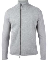 Emporio Armani Zipped High Collar Cardigan