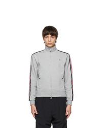 Moncler Grey Jersey Zip Up Track Jacket