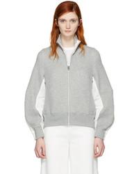 Sacai Grey Zip Up Sweater