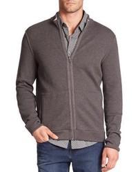 Hugo Boss Scavo Reversible Full Zip Cotton Sweater