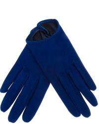 Guantes de cuero azules de Giorgio Armani