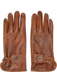 Guantes de cuero marrónes de Belstaff