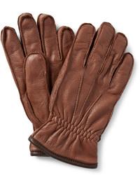 Guantes de cuero marrónes