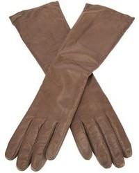 Guantes de cuero marrónes de P.A.R.O.S.H.