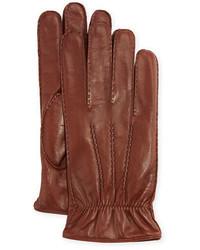 Guantes de cuero marrónes de Portolano