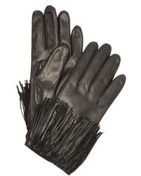 Guantes de cuero negros de Diane von Furstenberg