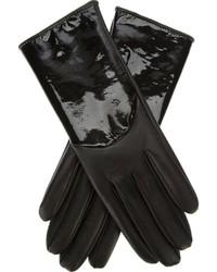 Guantes de cuero negros de Giorgio Armani