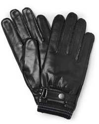 Guantes de cuero negros de Paul Smith
