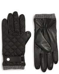 Guantes de cuero negros de Polo Ralph Lauren