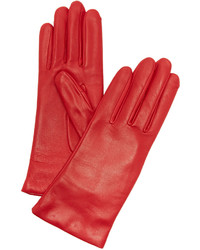 Guantes de cuero rojos de Agnelle