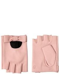 Guantes de Cuero Rosados de Karl Lagerfeld