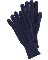 Guantes de lana azul marino de J.Crew