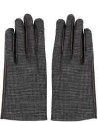 Guantes de lana en gris oscuro de Lanvin