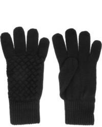 Guantes de lana negros de Bottega Veneta