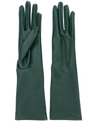 Guantes largos verde oscuro de Stella McCartney